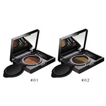 Private label Best Quality 2 Colors Two Tone Air Cushion Eyebrow Extension Palette Kit With Brush