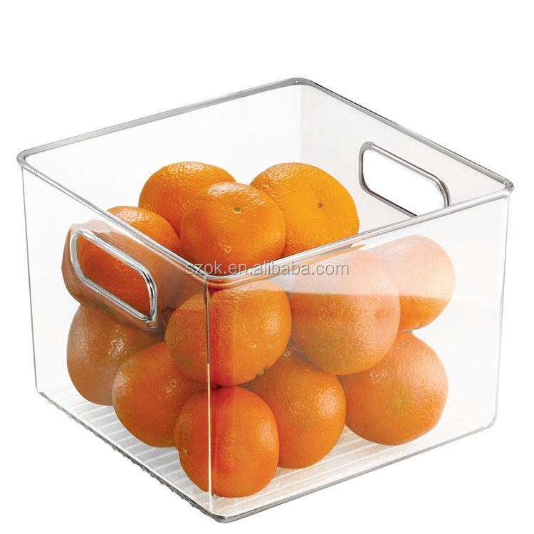 Kitchen handmade clear acrylic fruit bins / salt container / food container box