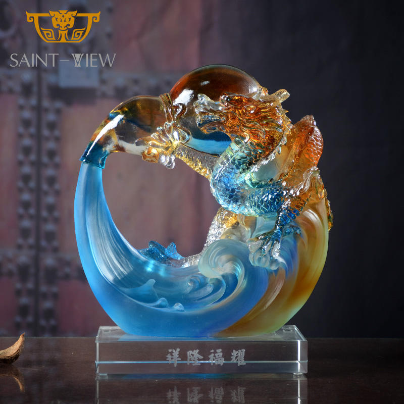 Fengshui — figurine Dragon Spray d'eau, cadeau, nouvelle mode chinoise, Sculpture de Dragon