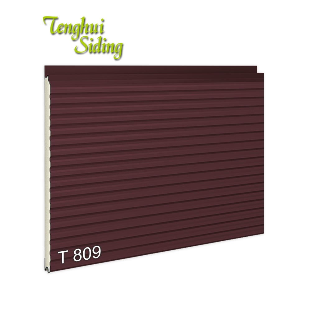 Factory Price Decorative Strips Series Aluminium Zinc Composite facade Sandwich Wall Facade Panel For Villa House
