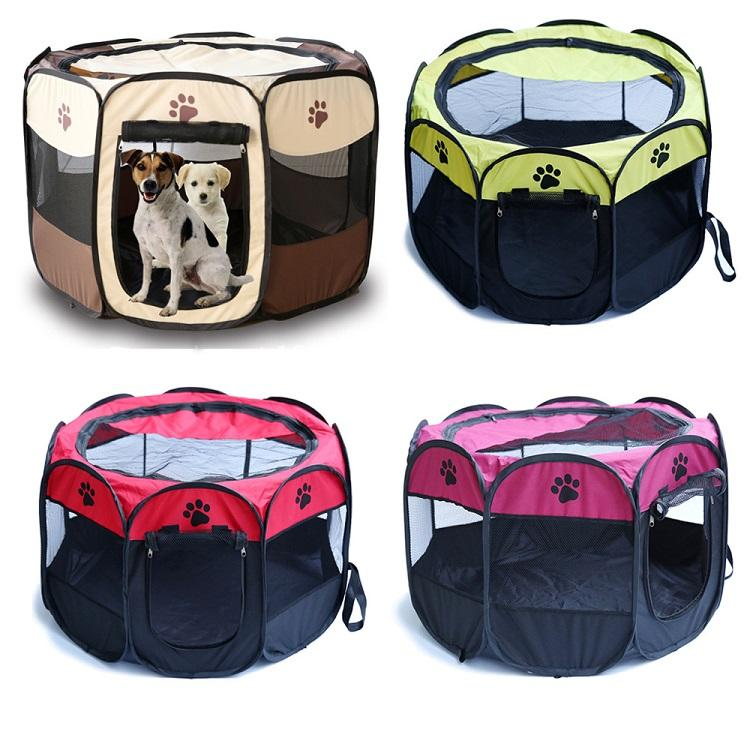 pet outdoor products Large portable Outdoor 8 Panels dog tent Pet Playpen tent with Carry Bag