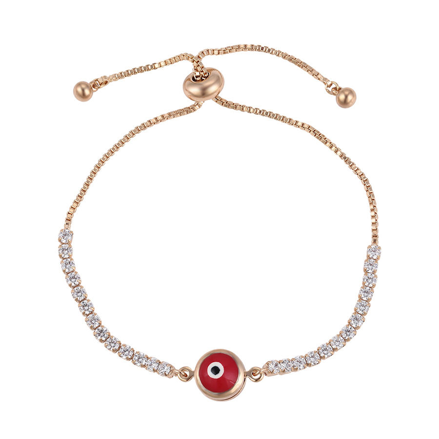 75163 Xuping wholesale fashion jewelry magnetic evil eye 18k gold plated bracelet for women
