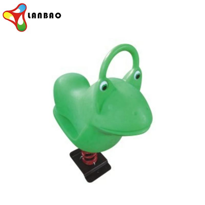 Kids outdoor playground accessories plastic frog rocking horse toy animal spring rider