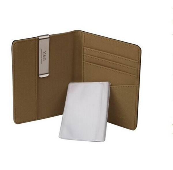 Boshiho RFID blocking passport,leather cover passport
