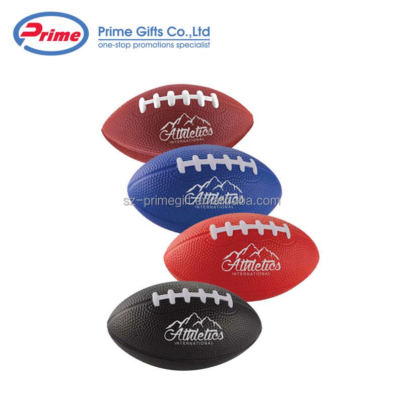 Football américain En Forme de PU Rugby Balle Anti-Stress avec Impression Personnalisée