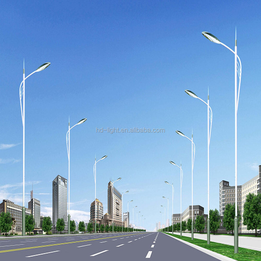 6m-10m street light pole, steel pole , high way steel pole with high quality