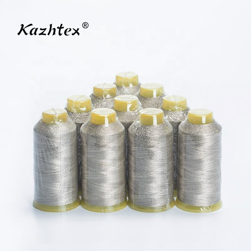 Low resistance 210D/3 twisted conductive pure silver thread