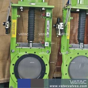 Vatac WCB/SS304/SS316 Slurry Knife Gate Valve Manual Operation