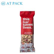 Custom printed laminated snack bar packaging with easy tear