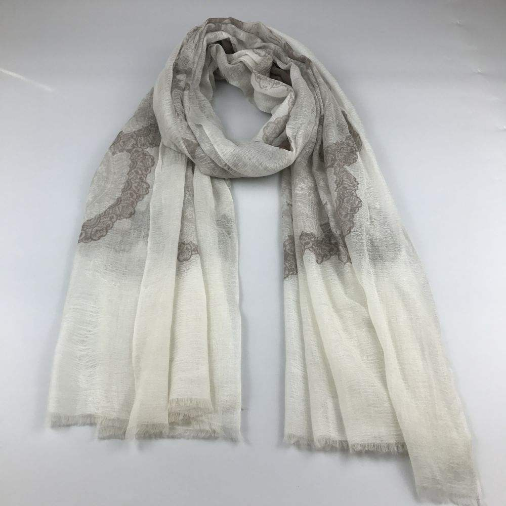 women cashmere/model printing scarf s18