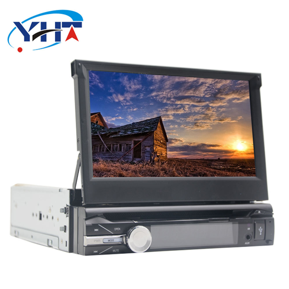 YHT Android 8.1 Universal 1 Din Car Video Player GPS Navigation In-dash Detachable Front Panel Car Radio Stereo with BT 1G RAM