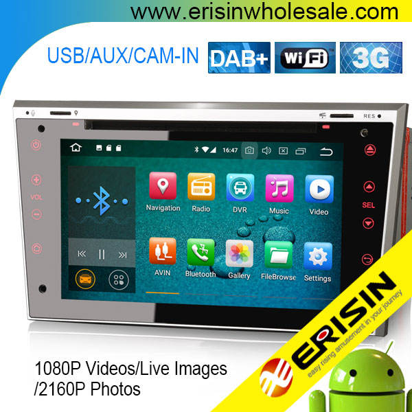 Erisin — lecteur dvd, CD et DVD, repose-tête, pour Opel Vauxhall Corsa C/D Vectra Zafira Astra Combo, Android 8.0, ES5893P