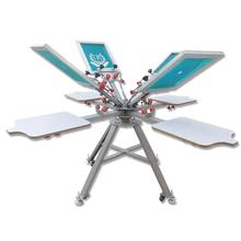 Manual Micro Registration 4 Color 4 Station Double Wheel Screen Printing Equipment