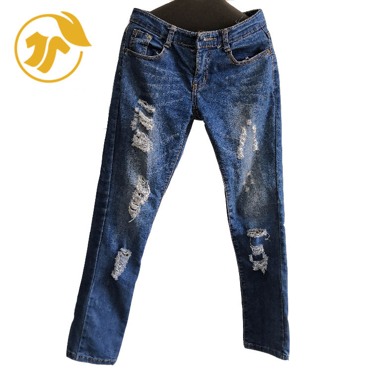 Cheap clothes in china second hand used clothing of Ladies Jeans Pants