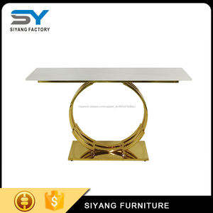 Clásico francés consola de mesa de acero inoxidable con cajones XG005