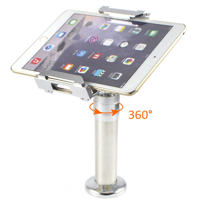 security anti-theft desk or countertop tablet stand holder for business, hotel, restaurant, exhibition building, retail shop