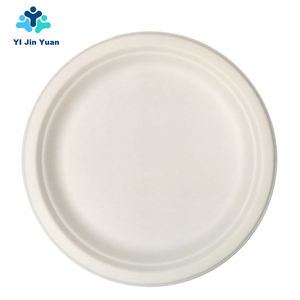 Wholesale Products China Biodegradable Compostable Disposables Cutlery Sugar Cane Bagasse Plate Dish For Eco-Friendly