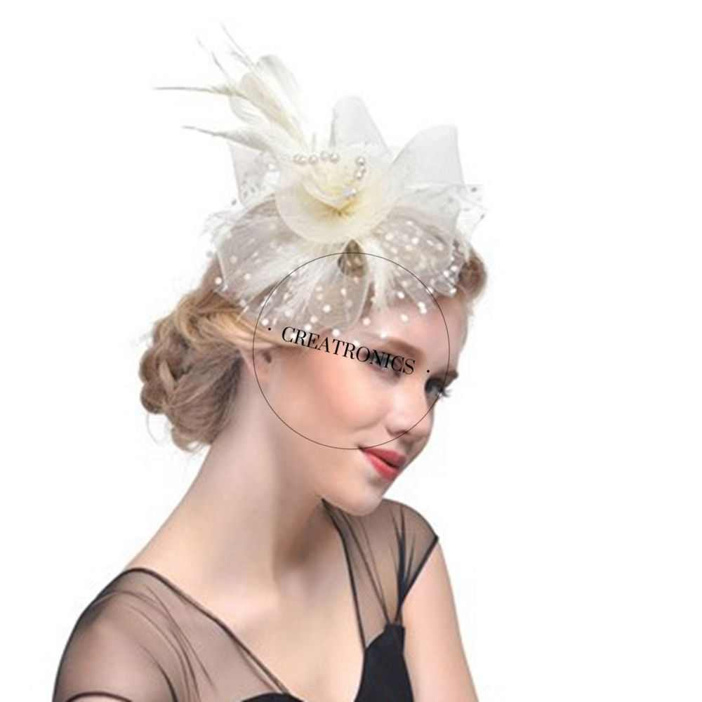 Royal ladies Mesh fascinators and hats Wholesale fascinator hats for party bases