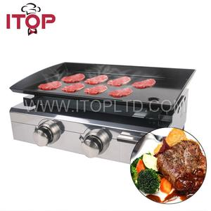 Outdoor Gas Plancha Grill 2-Burner