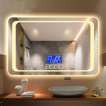 ETL Commercial Touch Sensor Switch Hotel Bathroom Anti-fog Led Bathroom Lighted Backlit Mirror
