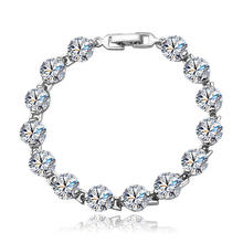 X7015 xuping 925 silver color zircon accessories women bracelet