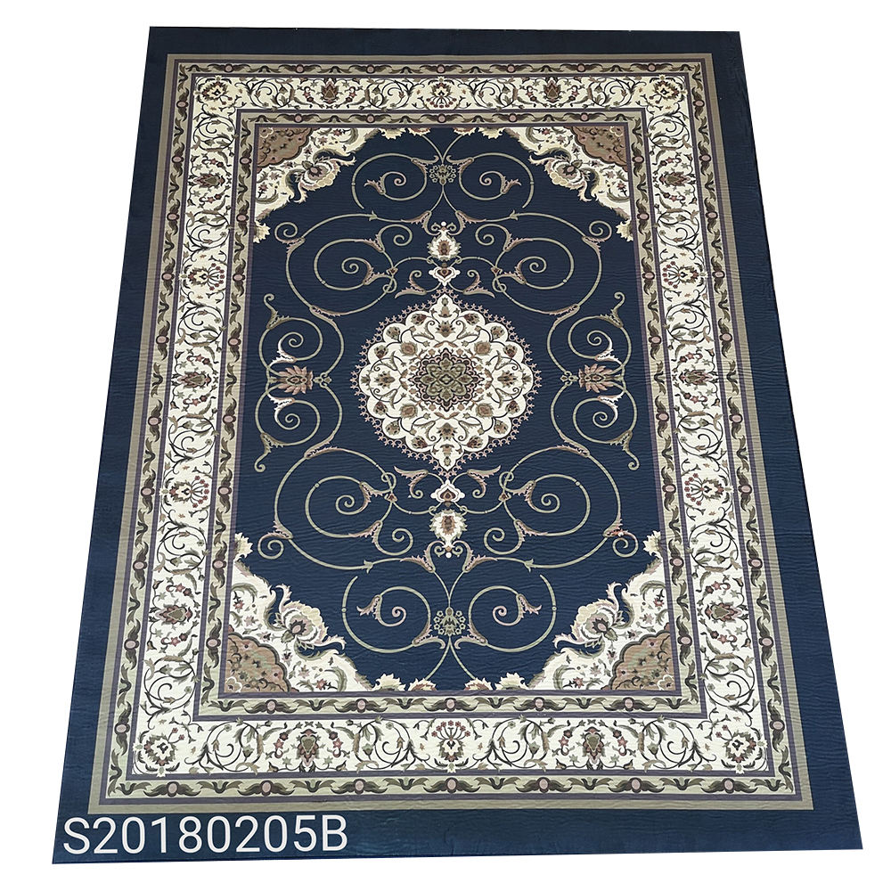 Luxury living room crystal plush printed area floor carpet