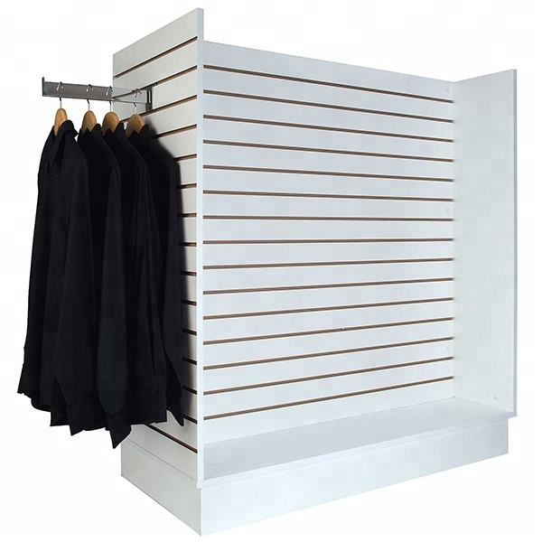 Hot sale free standing slatwall display for retail shop