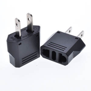 Wholesales express australia eu China to us America power adapter 6A250V Black travel charge electric plug socket