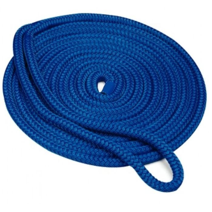 twisted polyester or nylon marine rope