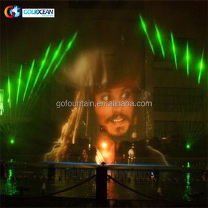 Chinese Fabriek Nieuwste Water Screen Nozzle Outdoor Fontein Movie Show Magic Water Fontein