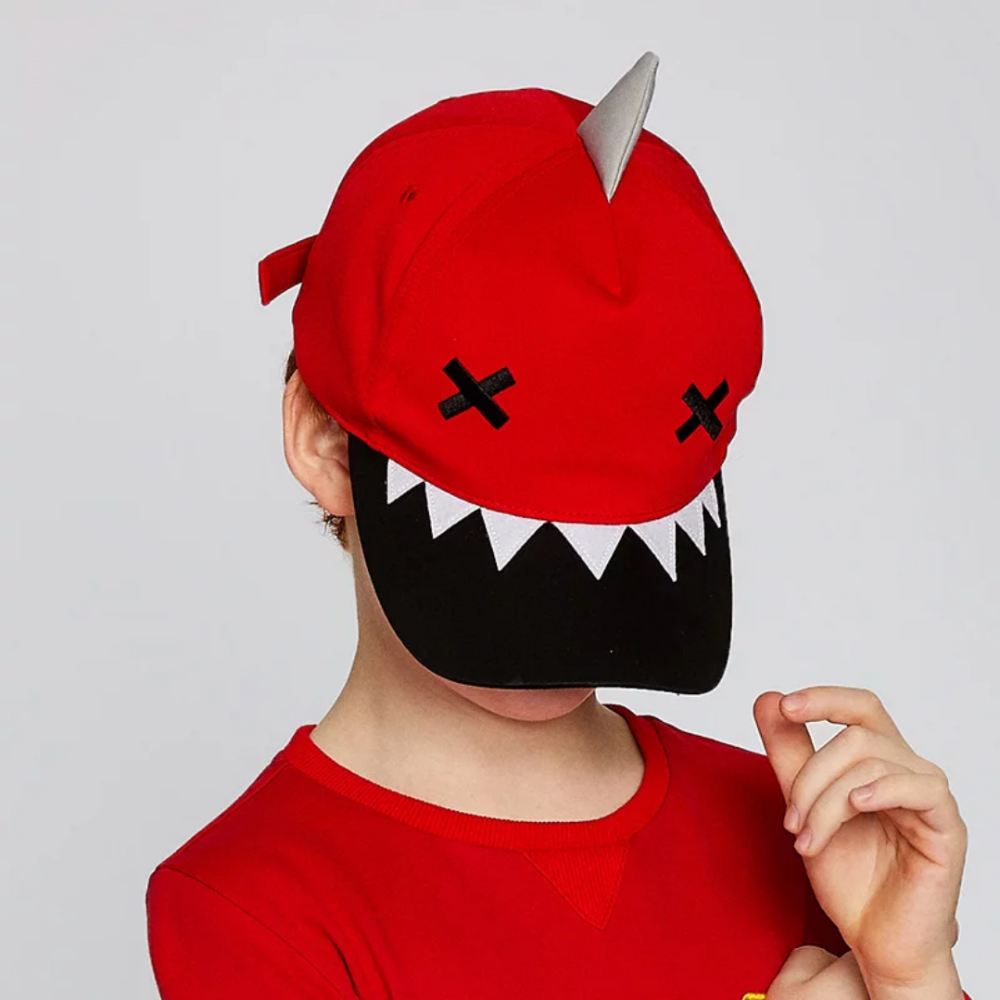 Custom Junior Child Kid Shark Animal Embroidery Patch 5 Panel Baseball Sports Cap Hat