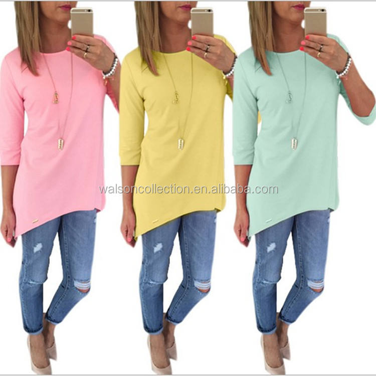 Walson Fashion Womens Loose Pullover T Shirt Long Sleeve Cotton Tops Shirt Blouse