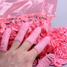 Industrial Grade Anti-static Finger Cots ESD Pink Latex Finger Cots Supplier