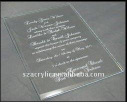 acrylic wedding invitation card