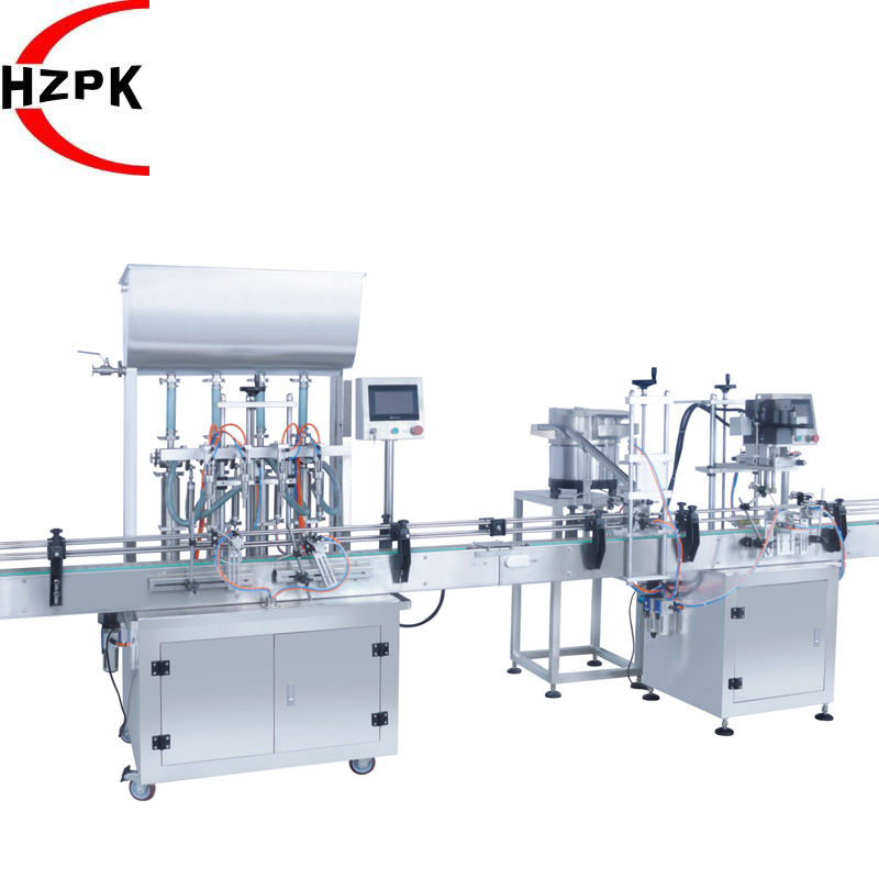 EXW Customized Auto 4 Heads Paste Filling Machine For Cream + Duckbill Screw capper Capping Machine For Irregular bottle cap