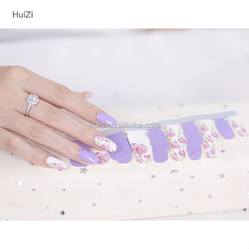 Designer Nail Art New Arrival for 2017 Colorful Printing Eco-friendly Nail Sticker for Natural Nail