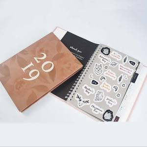 Dated Custom Planning Hard Cover Daily Weekly Planner Monthly Agenda Sticker Pages A5 Size