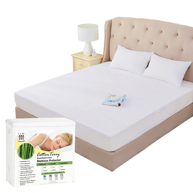 Premium Waterproof Bed Bug Proof boxspring cover protector With cotton terry Fabric for mattress Provide customized services