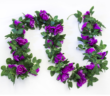 Wholesale Silk Roses Garland Artificial Hanging Flowers Vines