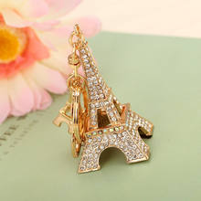 Fashion metal 3D tourist paris souvenir keychain wholesale