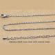 Chain Extend Silver Necklace Silver Color Stainless Steel 2.5mm Cross Chain With Extend Chain For Aromatherapy Locket Pendant Necklace