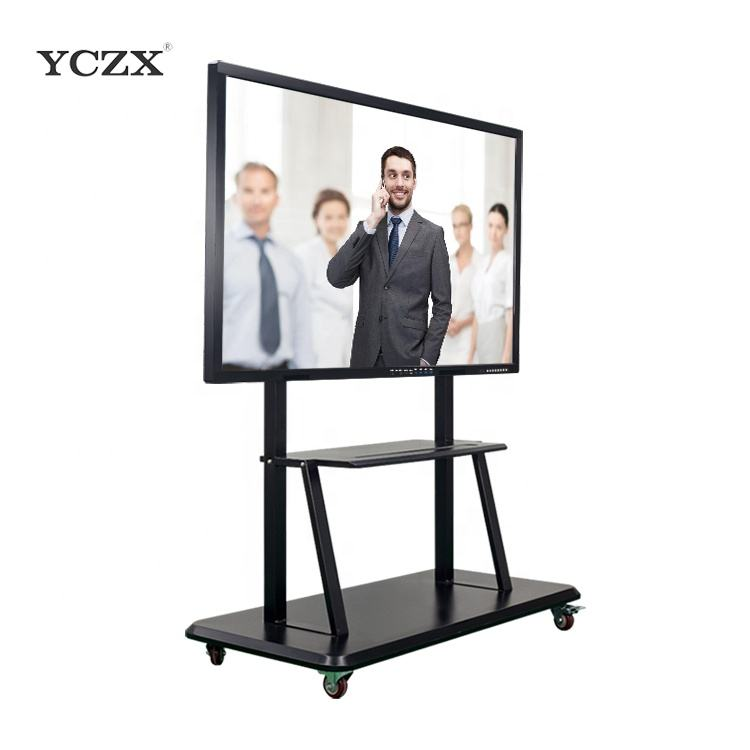 "75"" YCZX interactive touch screen monitor smart electronic writing white board for classroom"
