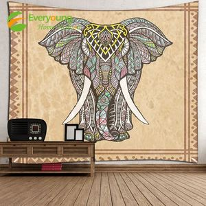 Factory Made Polyester Elephant custom printed Wall Tapestry Hanging 80*60 inch
