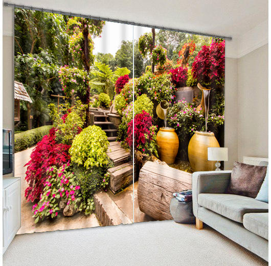 Landscape Beach Ocean Design 100% Polyester Living Room 3D Printed Office Car Window Curtain