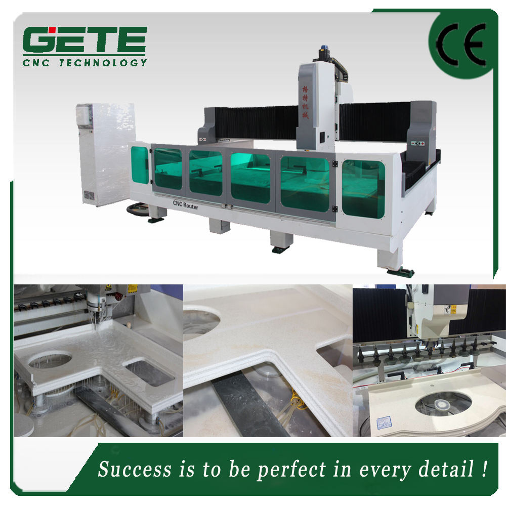 PM2513 China factory for kitchen granite stone countertop cnc processing equipment