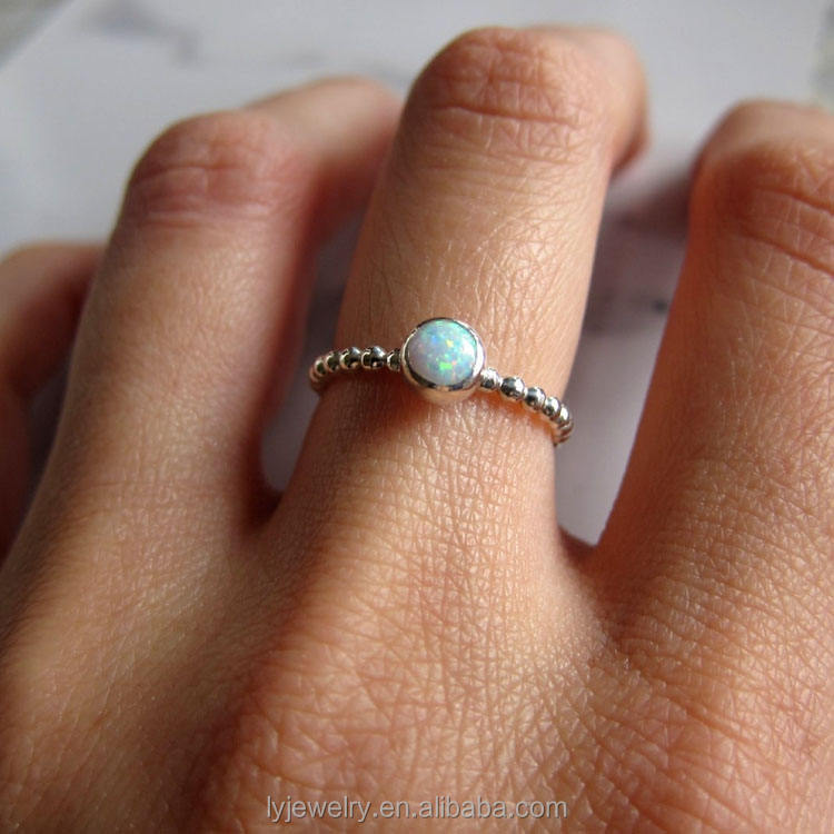 new products White Opal ring. Gemstone ring band. Sterling silver ring with white opal. Sale LYR0241