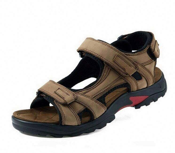Foreign trade hot men's leather sandals