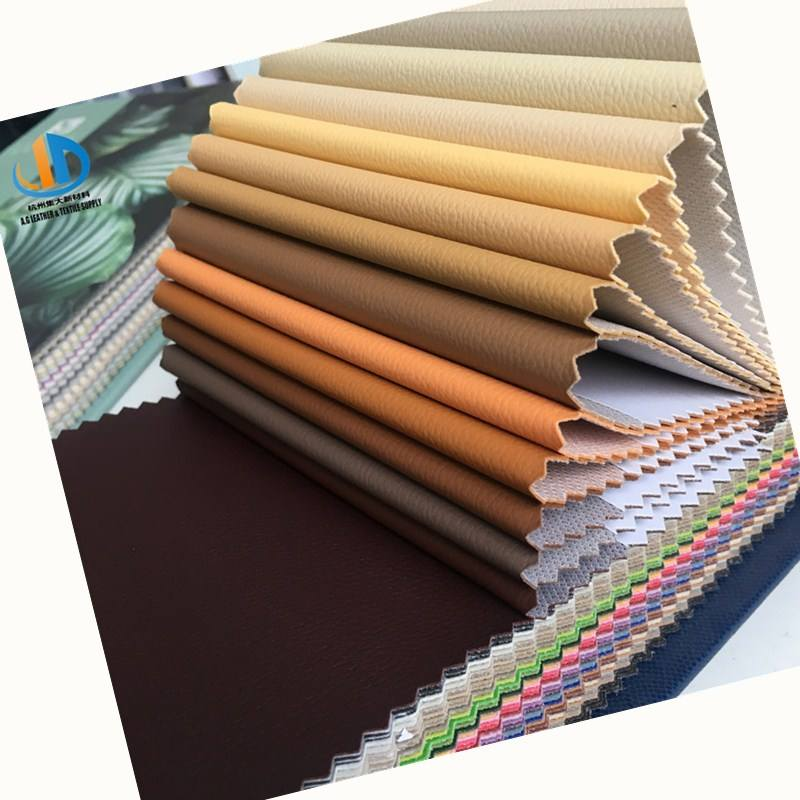 High Quality Eco Friendly leather DE 90 series PVC faux Leather factory supply black leather