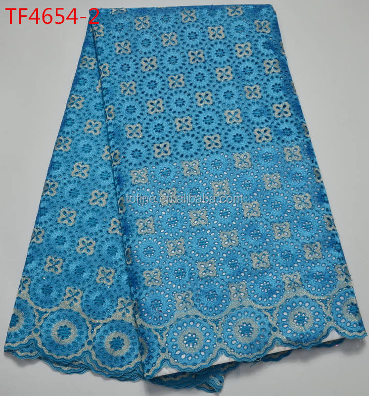 Wholesale fashion cotton guipure lace fabric cotton crochet lace fabric for women