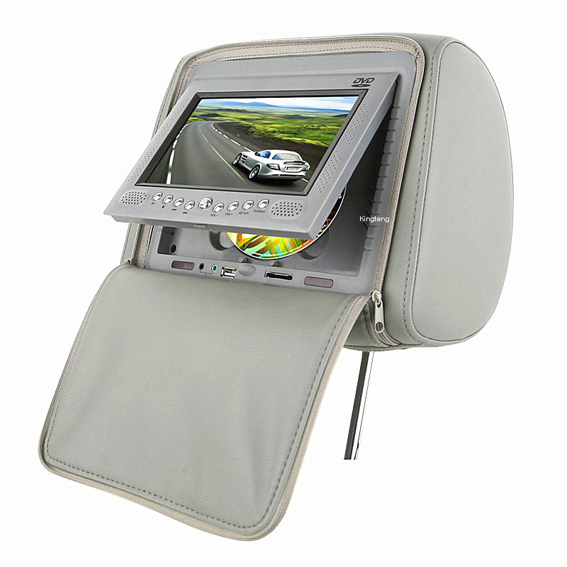 The Most Popular Vehicle User 7 Inch 9 Inch Car Headrest DVD Monitor With Pillow Zipper